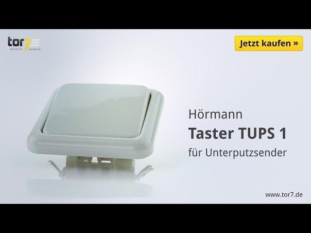 Produktvideo Hörmann Innentaster TUPS 1 für Unterputzsender
