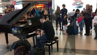 Rock and roll piano-Palermo airport