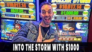 ⛈ INTO THE STORM w/ $1000 ⚡ Wild WINNING Run on Dollar Storm Ninja Moon 🌔