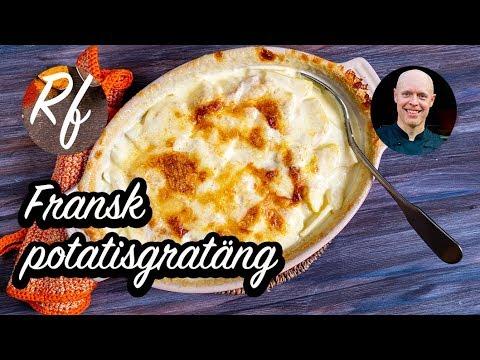 Extra krämig fransk potatisgratäng med mycket grädde, vitlök och ost är gott till det mesta.>