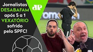 'O São Paulo vai perder o título? Parabéns, que vergonha!' Veja desabafo após 5 a 1 do Inter