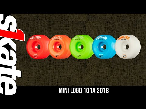 Mini Logo Skateboard Wheels A-cut 54mm 101A Black 4pk