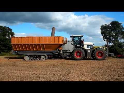 poland: grain cart brochard 45m3 transbordeur brochard 45m3 class xerion