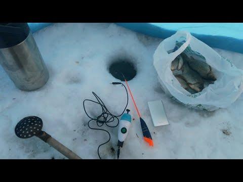 Полевые испытания зимней удочки из маркера с встроенной катушкой