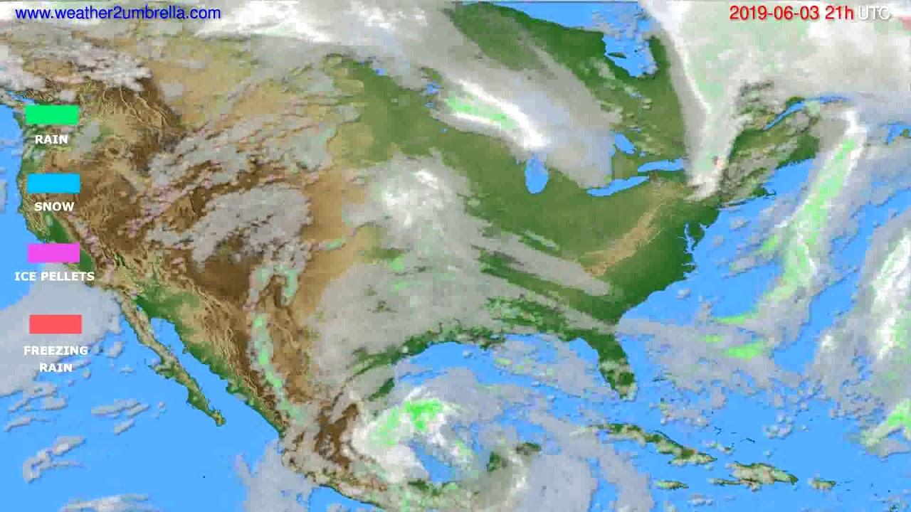 Precipitation forecast USA & Canada // modelrun: 00h UTC 2019-06-02