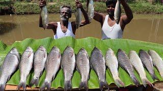 KATLA FISH Prepared by my daddy in MUD HOUSE Kerala / Village food factory