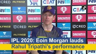 IPL 2020: Eoin Morgan lauds Rahul Tripathi's performance - Download this Video in MP3, M4A, WEBM, MP4, 3GP