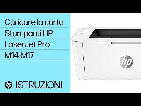 Come caricare la carta nelle stampanti HP LaserJet Pro M14-M17