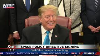 SPACE FORCE ESTABLISHED: President Trump Signs Bill at the White House (FNN)