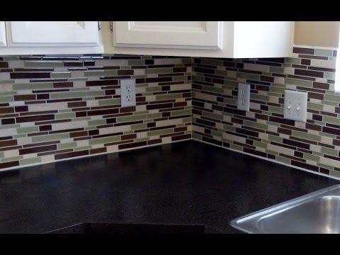 How to install a glass tile backsplash REAL DIY TIPS