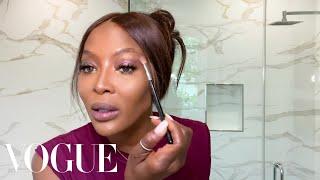 Naomi Campbells 10-Minute Beauty Routine | Beauty Secrets | Vogue