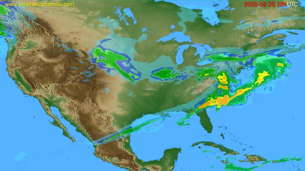 Radar forecast USA & Canada // modelrun: 00h UTC 2020-02-25