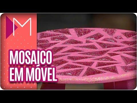 Mosaico em móveis