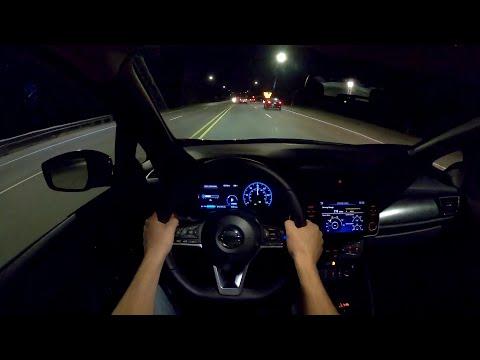 2022 Nissan Leaf SL Plus - POV Night Drive (Binaural Audio)