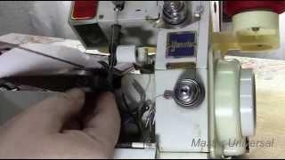 Как правильно поставить петлители в оверлок.Часть 2.Видно №50.