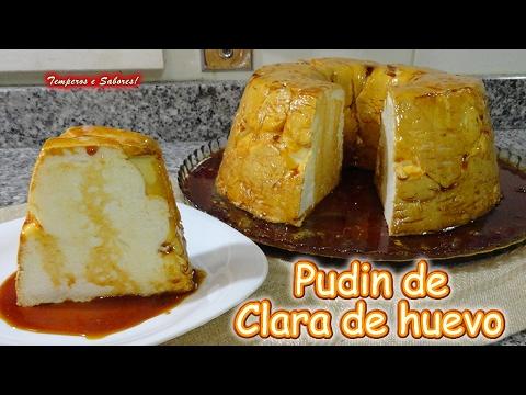 PUDIN DE CLARA DE HUEVO con solo 3 ingredientes, fácil, ligero y delicioso