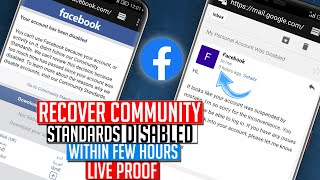 Recover Community Standards Disabled Facebook Account |How to Open Disabled Facebook Account English