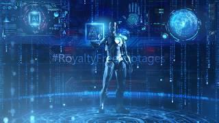 Robotics Artificial Intelligence | Hi-Tech futuristic technology background video | cyber security