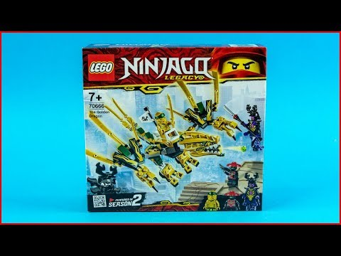LEGO NINJAGO 70666 The Golden Dragon Construction Toy - UNBOXING