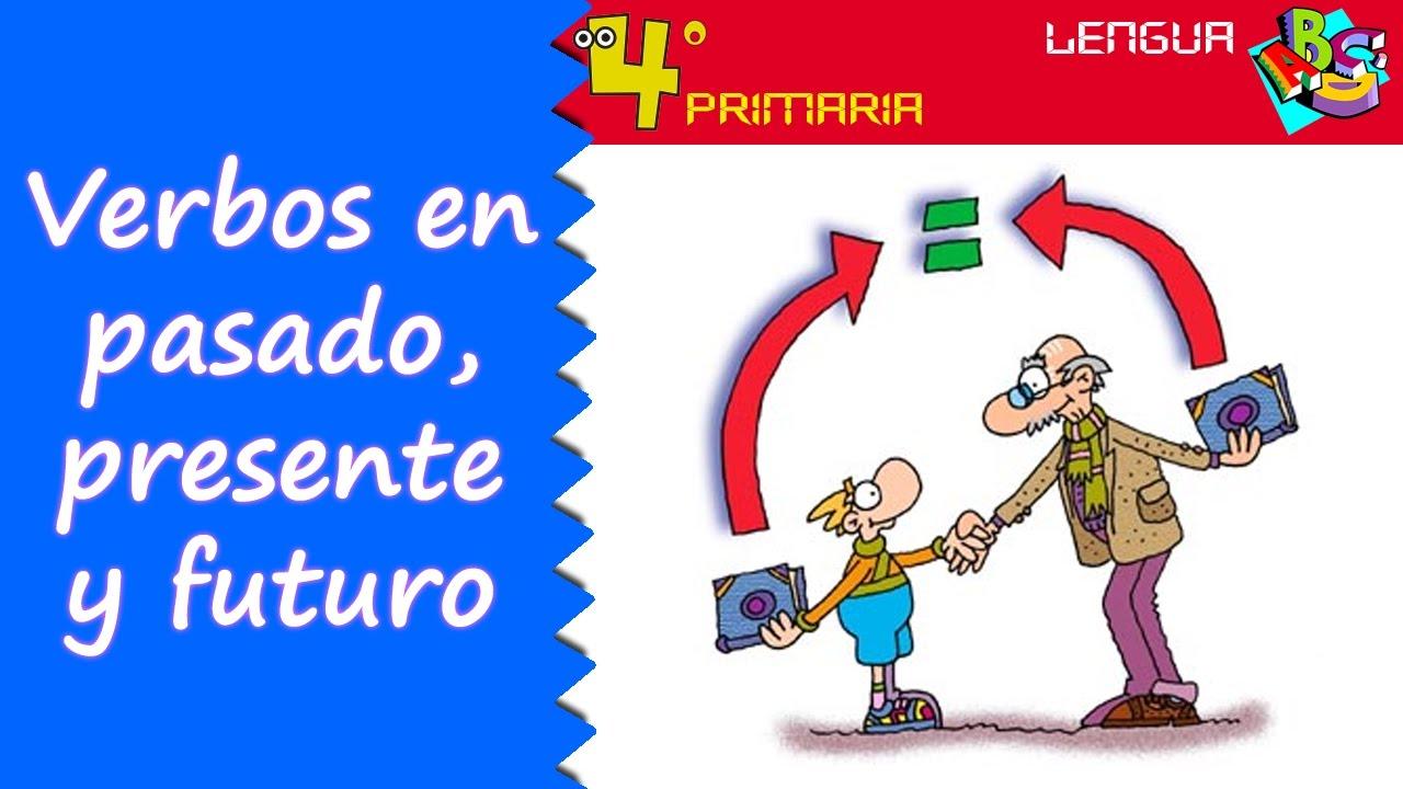 Lengua Castellana. 4º Primaria. Tema 6. Presente, pasado y futuro de los verbos