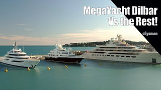 The Largest MegaYacht (Dilbar) V mere SuperYachts!