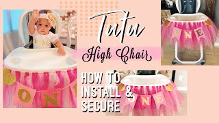 Tutu High Chair | First Birthday Idea for Girls