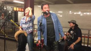 Miley Cyrus And Jimmy Fallon Surprise NYC Subway Performance 061317