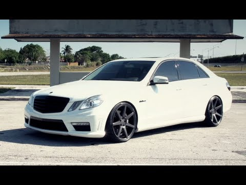 "Mercedes-Benz AMG E63 on 20"" Vossen VVS-CV7 Concave Wheels 
