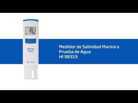 Cómo configurar y calibrar el tester de salinidad HI 98319
