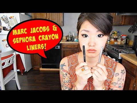 Eyeliner Review: Marc Jacobs & Sephora Crayon Pencil Liners | HelloHannahCho