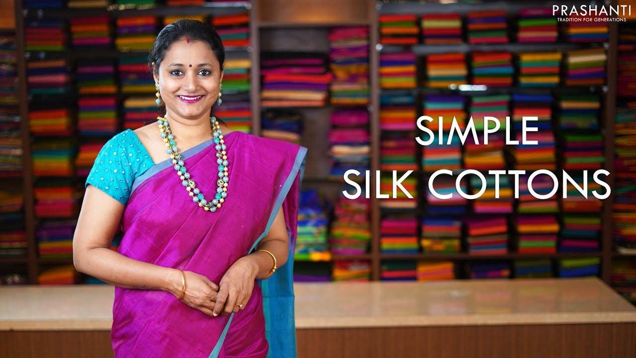 "<p style=""color: red"">Video : </p>Simple Silk Cottons | 18 Jan 21 | Prashanti 2021-01-18"