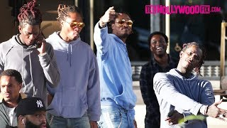 Future & Young Thug Go Shopping At Barneys New York In Beverly Hills 10.4.17 - TheHollywoodFix.com