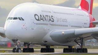 INCREDIBLE Airbus A380 CLOSE UP Takeoff & Landing | Qantas | Melbourne Airport Plane Spotting