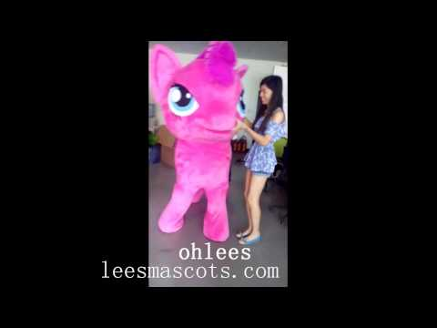 ohlees fancy my little pony hourse mascot costumes party Halloween made