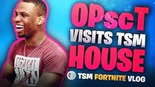 OPscT Visits TSM House! | Fortnite Vlog - dooclip.me