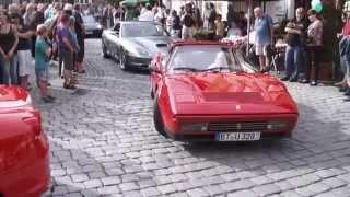 preview picture of video 'Italienische Nacht Kulmbach mit Ferrari und Maserati Auto-Corso'