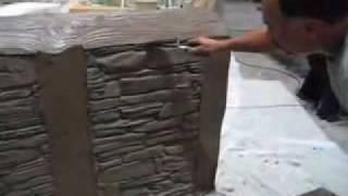 Vertical decorative concrete - flex-c-ment
