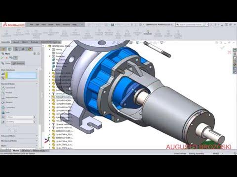 Solidworks Centrifugal Pump 08 - 09
