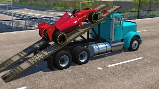 BeamNg Drive High Speed Ramp Jumps #6