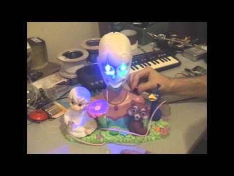 Circuit Bent Barbie Island Princess Singing Head by freeform delusion
