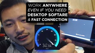 How to Work Anywhere from Phone & Access Desktop Software with Fast Internet 300Mbps
