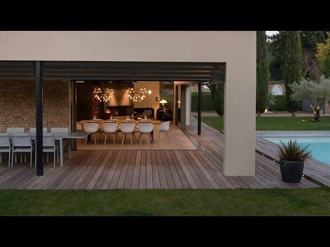 Une extension de 100 m2, transparence à l'état brut