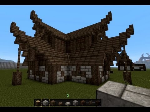 how to make a medieval house minecraft