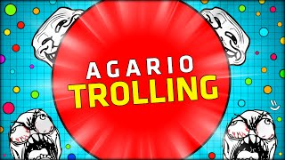 THE BEST AND BIGGEST FUNNY AGARIO TROLLING, SEE HOW! (Agar.io w/ Double)