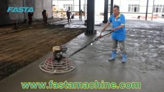 Concrete power trowel machines working video