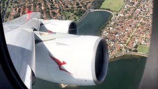 GIGANTIC Qantas Airbus A380-800 TAKEOFF At Sydney Airport