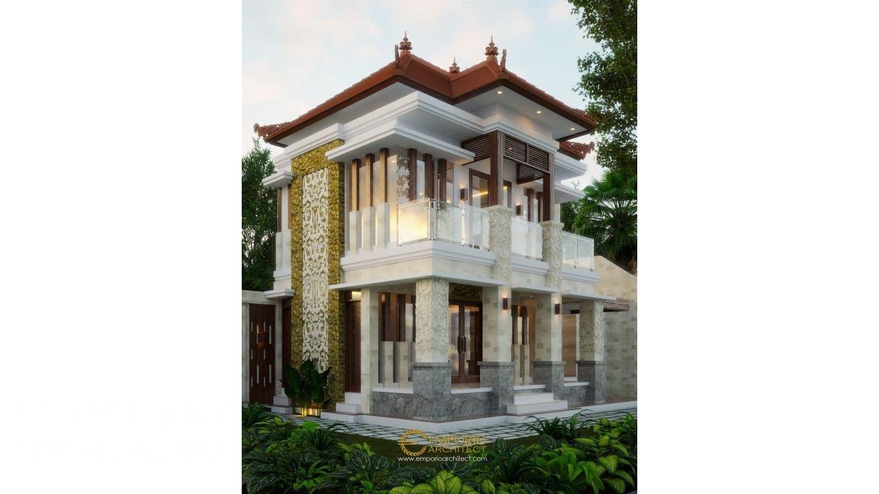 Video 3D Desain Rumah Villa Bali 2 Lantai Bapak Komang Adi II di Kerobokan, Bali