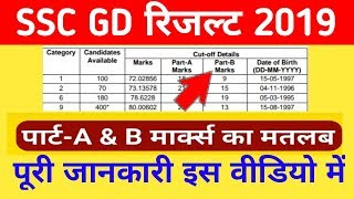 Ssc Gd 2019 Part A And Part B Marks Full Information Ll Ssc Gd Part A व Part B के नंबरों की पूरी जान