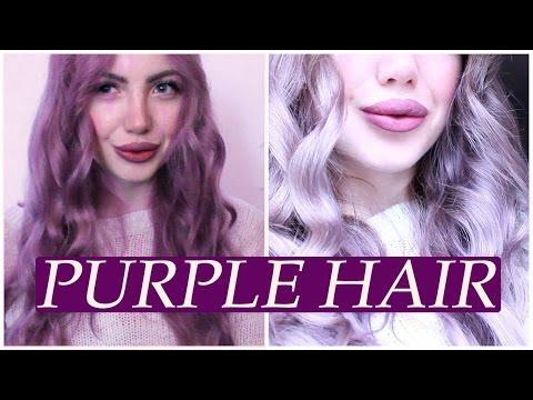 Как покрасить волосы в лавандовый, фиолетовый цвет