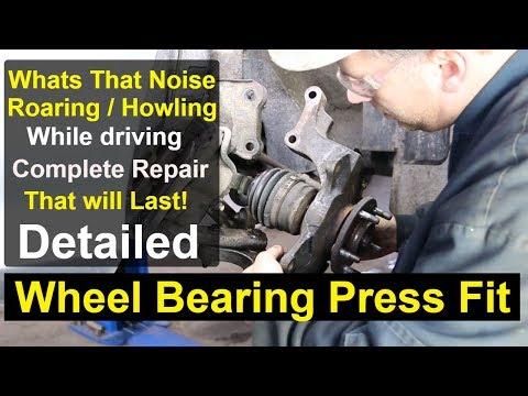 Kia Sedona - Front wheel bearing Complete repair DETAILED